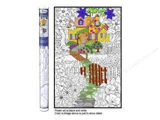 "Stuff2Color Poster Wall 22""x32.5"" Hidden Cottage"