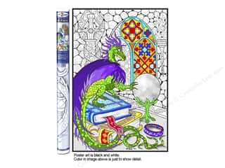 "Stuff2Color Poster Wall 22""x32.5"" Dragon Crys Ball"