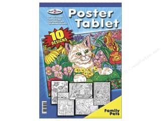 "Stuff2Color Poster Tablet 11""x15"" Family Pets"