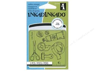 Inkadinkado Cling Stamp Mini Craft Room Pattern