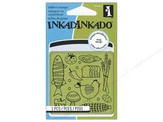 Inkadinkado Cling Stamp Mini: Inkadinkado InkadinkaClings Rubber Stamp Mini Kitchen Food Pattern