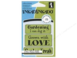 Rubber Stamping Gardening & Patio: Inkadinkado InkadinkaClings Rubber Stamp Mini Garden Fresh Expressions