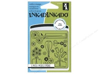 Inkadinkado Cling Stamp Mini: Inkadinkado InkadinkaClings Stamp Mini Flower Pattern