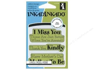 Father's Day Rubber Stamping: Inkadinkado InkadinkaClings Rubber Stamp Mini Mother Thanks Expressions