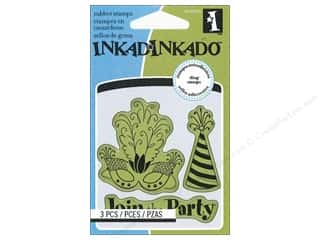 Party & Celebrations Stamps: Inkadinkado InkadinkaClings Rubber Stamp Mini Party Icons
