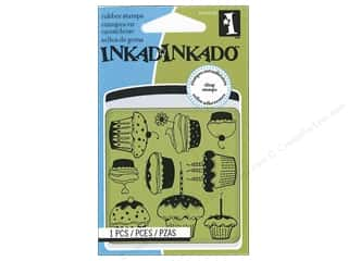 Inkadinkado Inkadinkado InkadinkaClings Rubber Stamp: Inkadinkado InkadinkaClings Rubber Stamp Mini Cupcake Pattern