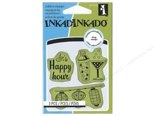 Inkadinkado Cling Stamp Mini: Inkadinkado InkadinkaClings Stamp Mini Cocktail Party Icons