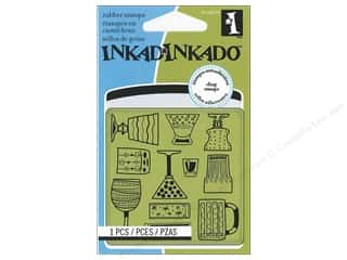Inkadinkado Cling Stamp Mini: Inkadinkado InkadinkaClings Stamp Mini Cocktail Party