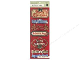 K&Co Adhesive Chipboard TC Christmas Word