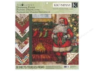 K &amp; Company Paper Pad 12 x 12 in. Tim Coffey Christmas