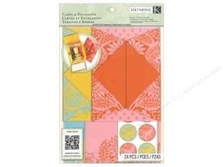 Gifts Note Cards: K&Company Card & Envelopes Beyond Postmarks Letterpress Folded