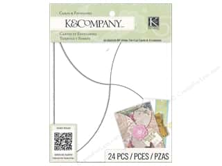 Gifts Note Cards: K&Company Card & Envelopes Beyond Postmarks White Die Cut