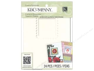K & Company Note Cards: K&Company Card & Envelopes Beyond Postmarks Ivory Die Cut