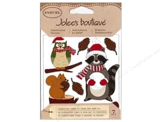 Jolee's Boutique Stickers Parcel Critters With Santa Gear