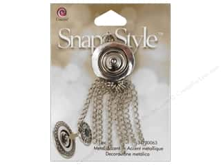 Hair Cousin Snap In Style Base: Cousin Snap In Style Base Metal Accent Chain Tassel