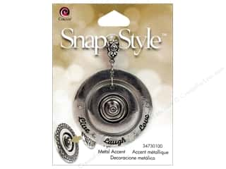 Cousin Corporation of America Charms and Pendants: Cousin Snap In Style Base Metal Accent Live Love