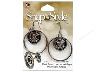 Cousin Snap In Style Base Mtl Accent Earring