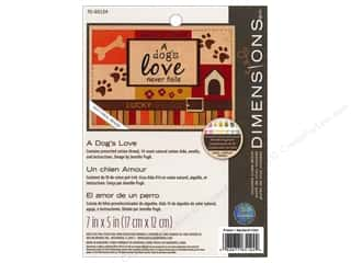 even weave: Dimensions Cross Stitch Kit 7x5 A Dog's Love