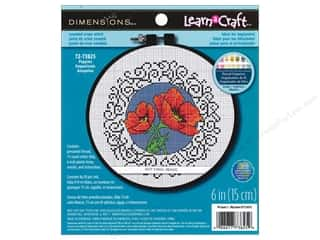 Dimensions Cross Stitch Kit 6&quot; Round Poppies