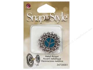Clearance Cousin Snap In Style Accent: Cousin Snap In Style Accent Metal Peace Teal