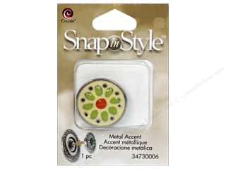 Cousin Snap In Style Accent Metal Daisy Yellow