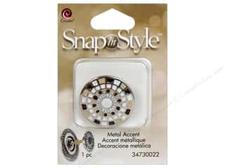 Hair Cousin Snap In Style Base: Cousin Snap In Style Accent Metal Mosaic Tan
