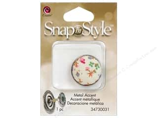Cousin Snap In Style Accent Metal Floral 1