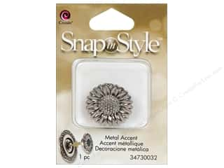 Clearance Cousin Snap In Style Accent: Cousin Snap In Style Accent Metal Sunflower