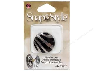 Cousin Snap In Style Accent Metal Zebra