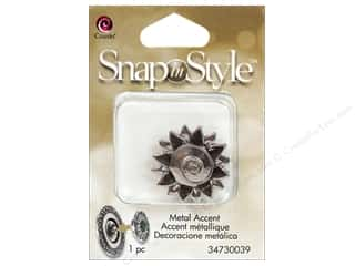 Charms Cousin Snap In Style Accent: Cousin Snap In Style Accent Metal Swirl Sunflower
