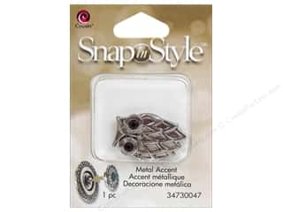 Clearance Cousin Snap In Style Accent: Cousin Snap In Style Accent Metal Owl