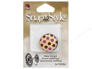 Clearance Cousin Snap In Style Accent: Cousin Snap In Style Accent Metal Polka Dot
