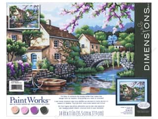Weekly Specials Cross Stitch Kits: Paintworks Paint By Number Kit 14 x 11 in. Village Canal