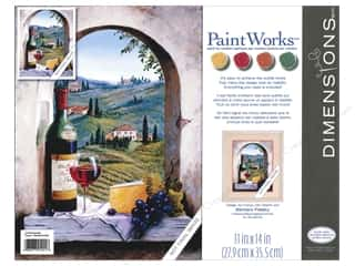Outdoors Crafting Kits: Paintworks Paint By Number Kit 11 x 14 in. Tuscan View