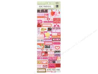K & Company Valentine's Day: K&Company Stickers Embossed Smooch Word