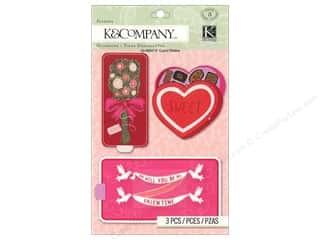 Glitter Love & Romance: K&Company Stickers Sliders Cupid
