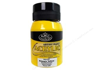Royal Rub Ons Cream/Natural: Royal Paint Artist Acrylic 16.9oz Primary Yellow
