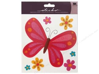 EK Sticko Sticker Big Butterfly Pink