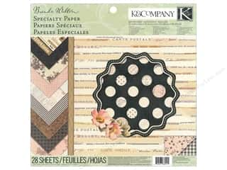 K&Co Paper Pad 12x12 BW Maison Special