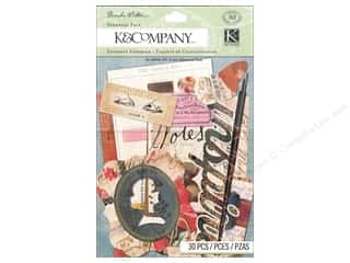 K&amp;Co Embellishments Ephemera Pack BWalton Scribe