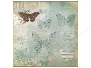 Clearance Blumenthal Favorite Findings: K&Co Paper 12x12 BW Scribe Butterfly (25 piece)