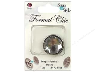 Snaps Cousin Snap in Style Snap: Cousin Snap in Style Snap Formal Clear Rhinestone