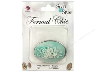 Cousin Snap in Style Snap Formal Teal Flowr Cameo