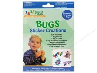 Pepperell Braiding Co. Kid Kit: Textured Products 123 Sticker Creations Bugs
