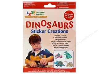 Textured Products 123 Sticker Creations Dinosaurs