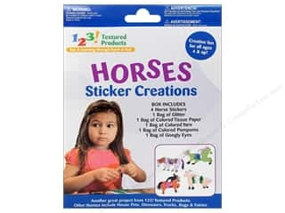 Pepperell Braiding Co. Kid Kit: Textured Products 123 Sticker Creations Horses