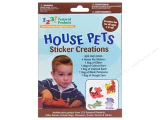 Pets Stickers: Textured Products 123 Sticker Creations House Pets