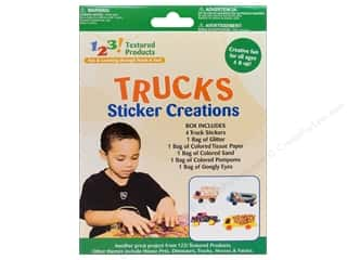 Pepperell Braiding Co. Kid Kit: Textured Products 123 Sticker Creations Trucks