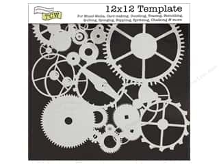 Crafter's Workshop, The Craft & Hobbies: The Crafter's Workshop Template 12 x 12 in. Gears