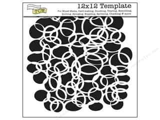 Clearance The Crafters Workshop Template: The Crafter's Template 12 x 12 in. Ringlets Reversed